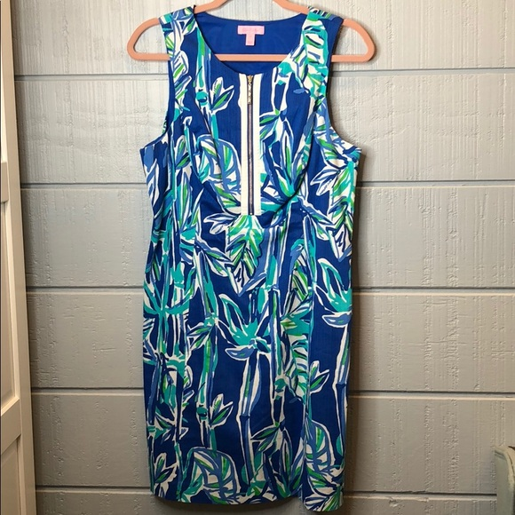 Lilly Pulitzer Dresses & Skirts - Lily Pulitzer bamboo zip front shift